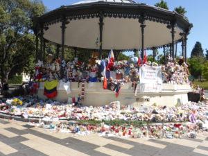 Der Ort des Gedenkens im Jardin Albert 1er